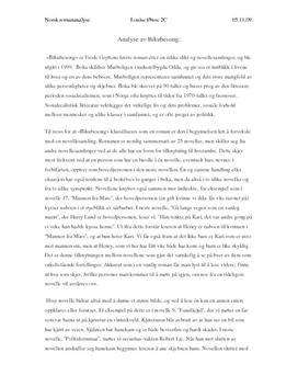 Analyse av Bikubesong av Frode Grytten