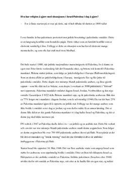 Refleksjonsoppgave - Internasjonal konflikt