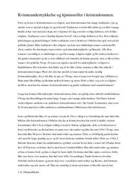 Nettbok · Kvinnesynet i kristendommen, islam og hinduismen