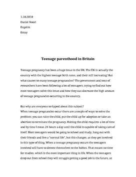 Teenage parenthood in the UK