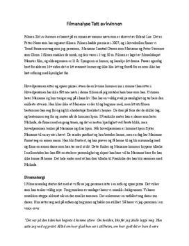 Tatt av kvinnen | Filmanalyse
