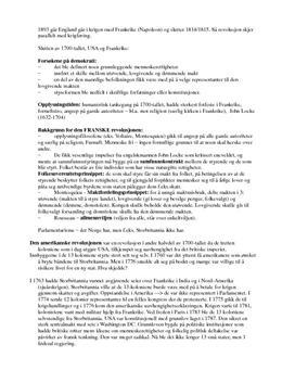 Den franske revolusjonen notater