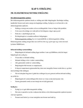 Kapittel 5 - Stråling | Sammendrag