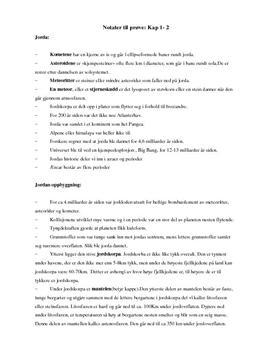 Notater til prøve kapittel 1 og 2