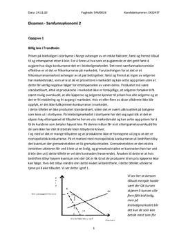 Eksamen i samfunnsøkonomi 2 høsten 2010