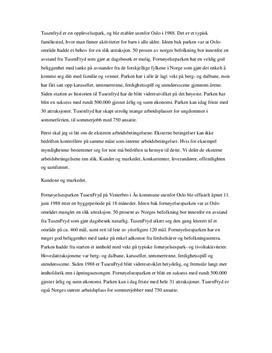 SWOT-analyse av Tusenfryd