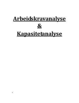 Høyre midtbane/indreløper i fotball | Arbeidskravanalyse og kapasitetsanalyse