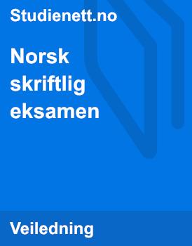 Norsk skriftlig eksamen 2016