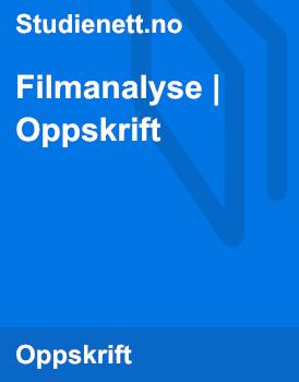 Filmanalyse | Oppskrift