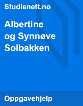 Albertine og Synnøve Solbakken | Tolk og sammenlign