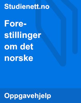 Forestillinger om det norske | Artikkel