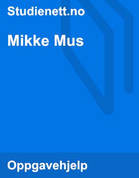 Mikke Mus | Analyse