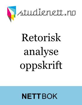Retorisk analyse | Oppskrift
