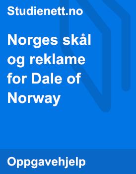 Norges skål og reklame for Dale of Norway | Tolk og sammenlign
