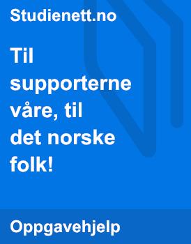 Til supporterne våre, til det norske folk! | Retorisk analyse