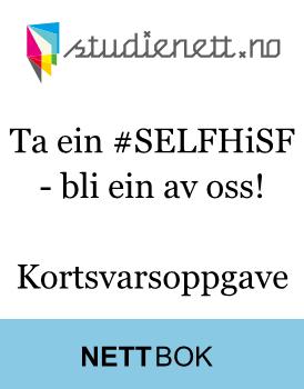 Ta ein #SELFHiSF - bli ein av oss! | Kortsvarsoppgave