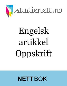Engelsk artikkel | Oppskrift
