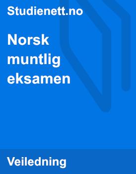 Norsk muntlig eksamen 2016