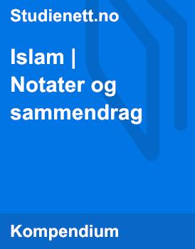 Islam | Notater og sammendrag