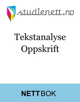 Tekstanalyse   Oppskrift