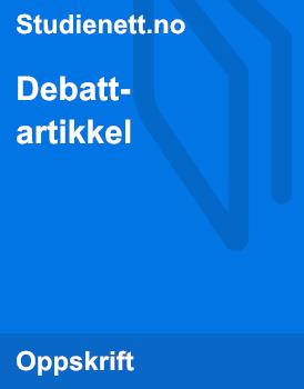 Lekser Debattartikkel
